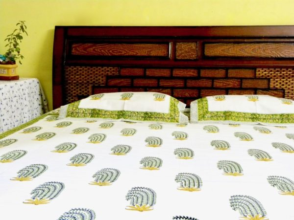 cotton bedsheets green