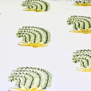 cotton bedsheet green